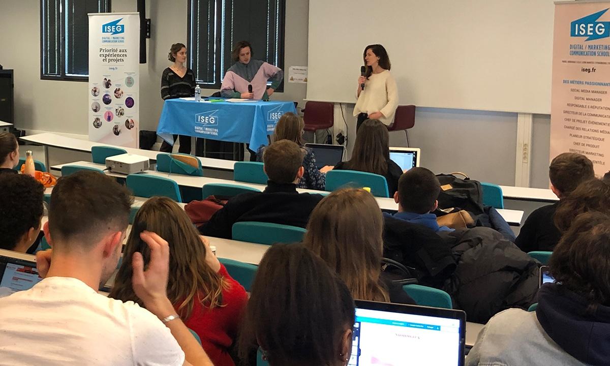 masterclass-communication-start-up-étudiants-iseg-bordeaux-aurore-vinzerich