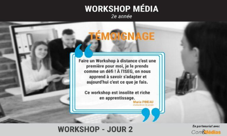 Workshop COM&MÉDIA à distance pour les étudiants de 2e année
