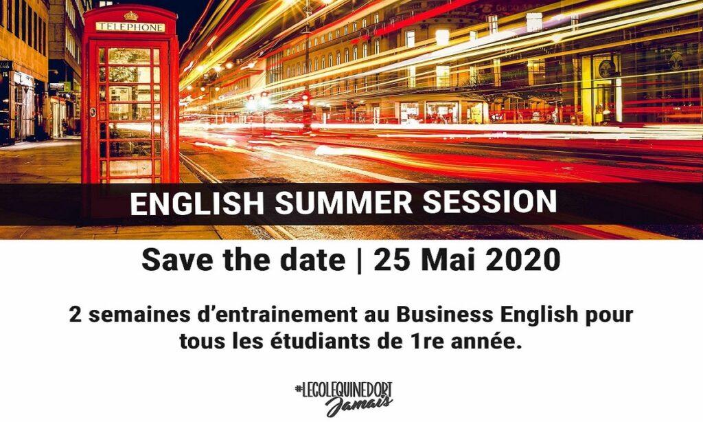 ENGLISH SUMMER SESSION 2020