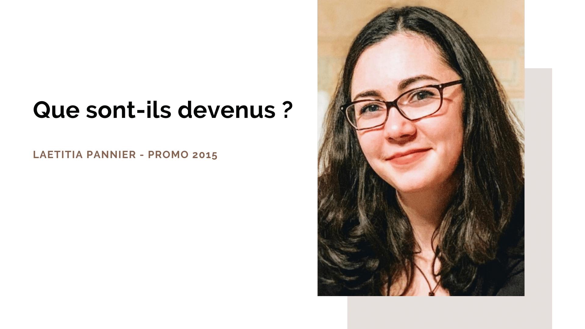Portrait d'ancien : Laetitia Pannier, diplômée promo 2015 – ISEG Paris