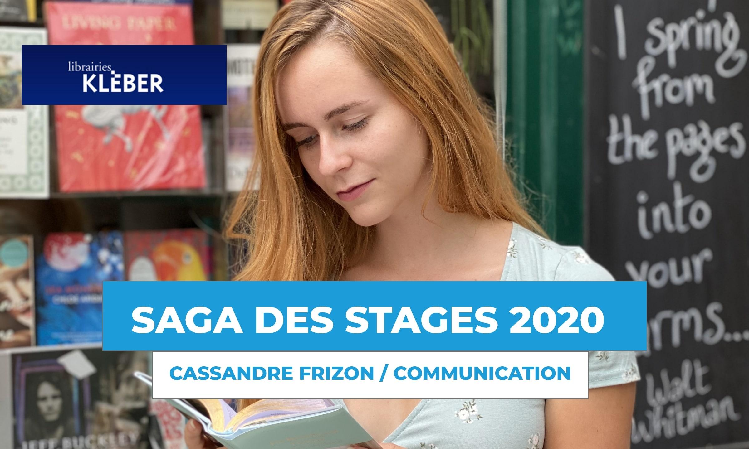 SAGA DES STAGES : rencontre avec Cassandre Frizon à la librairie Kleber !