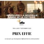 Prix EFFIE : l'ISEG est partenaire de l'édition 2020 – 100% digitale