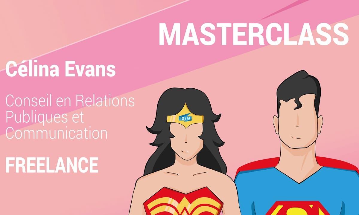 MASTERCLASS : Célina Evans, consultante en relations publics et communication