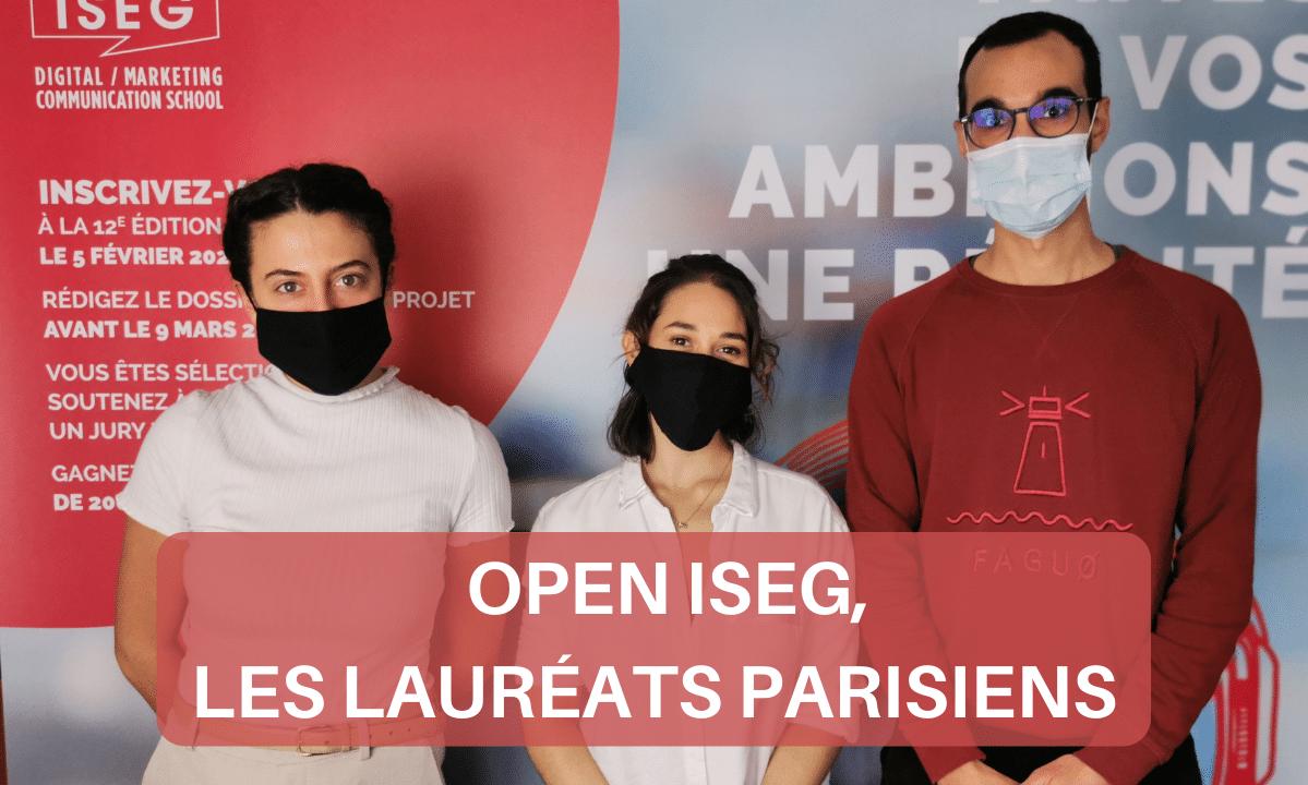 Open ISEG 2021 : les lauréats parisiens