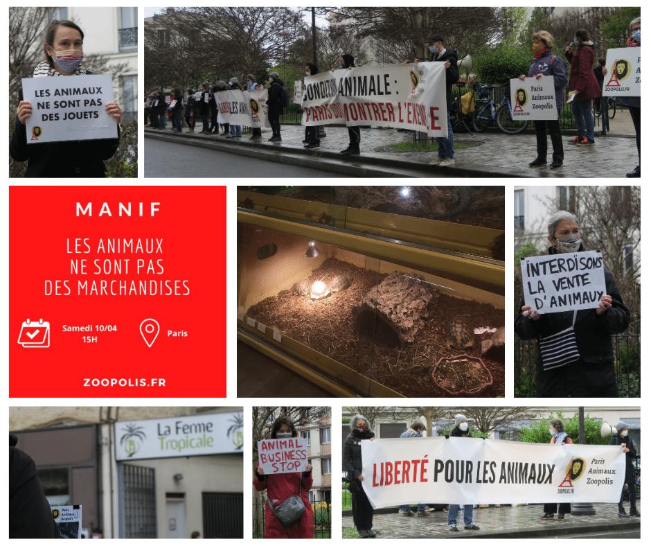 Manifestation pour le droit des animaux - Paris
