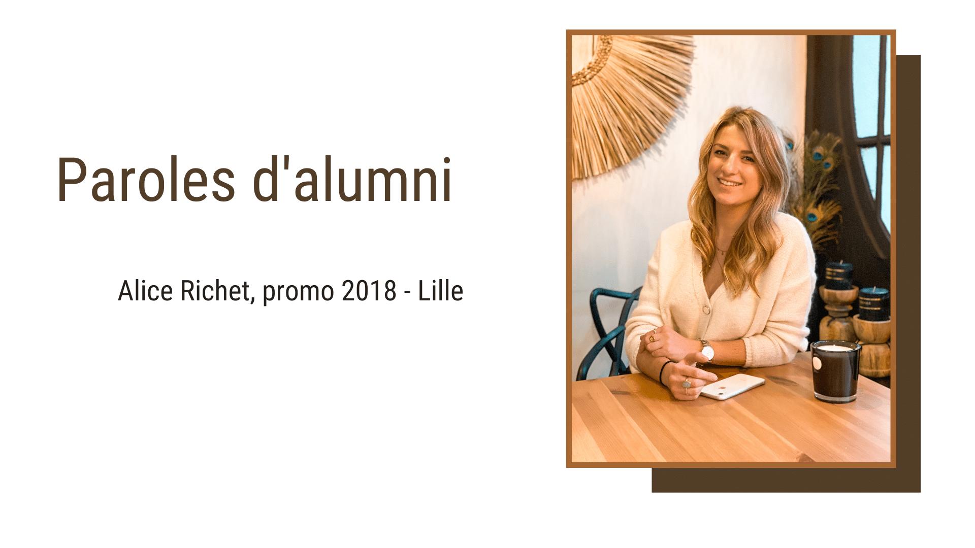 Alumni : rencontre avec Alice Richet, promo 2018