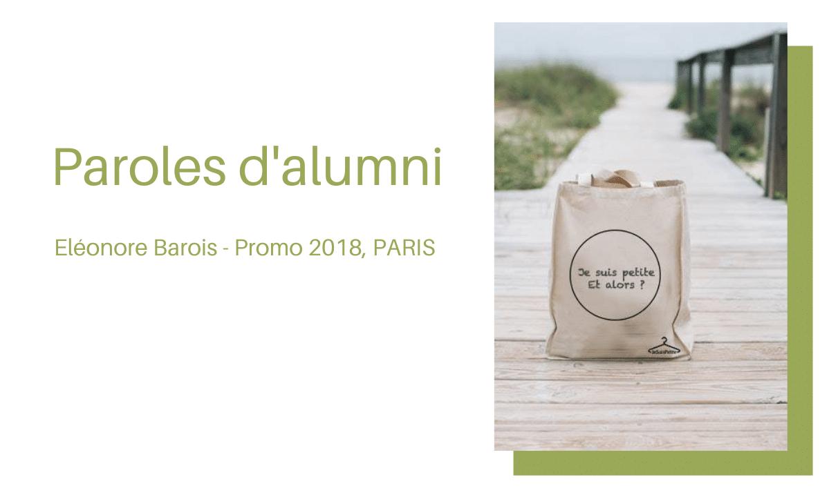 Portrait d'ancien : Eléonore BAROIS, diplômée promo 2018