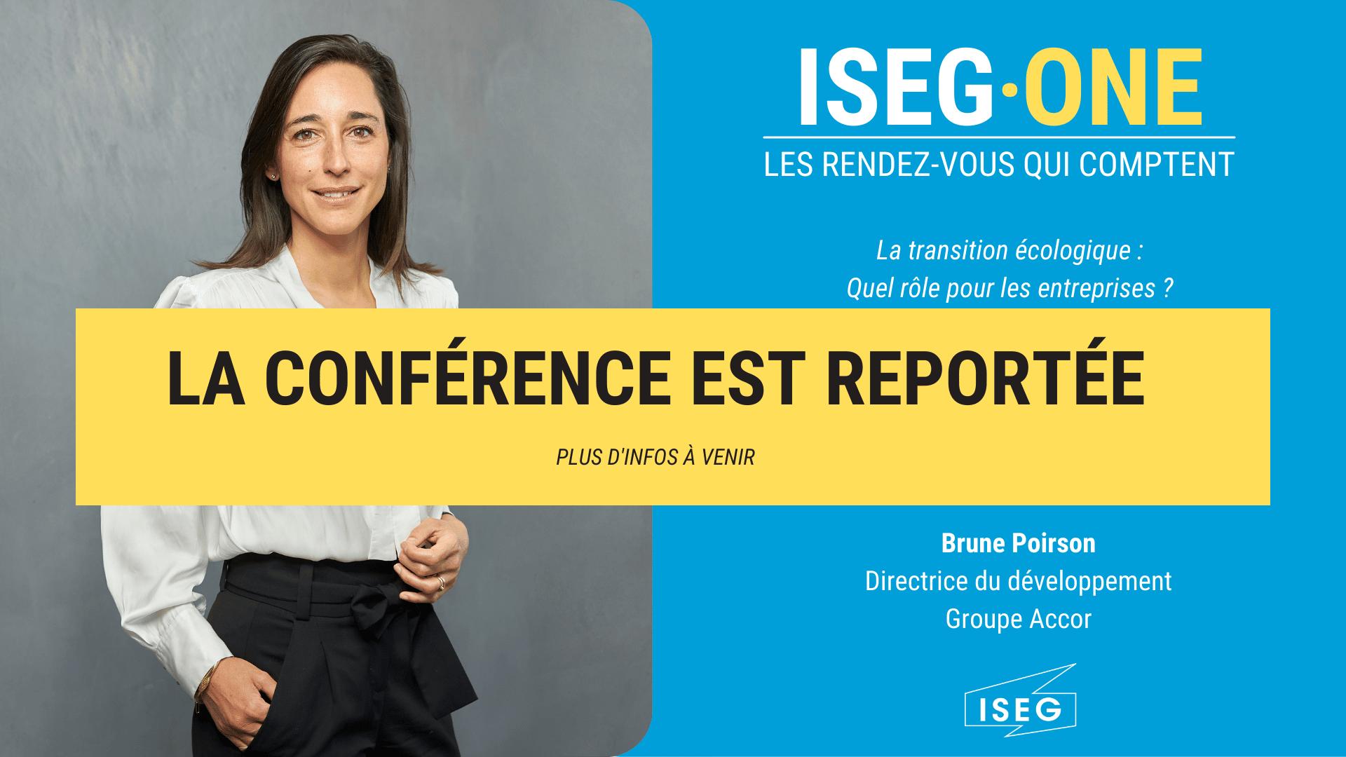 Brune Poirson, invitée de l'ISEG ONE à Paris